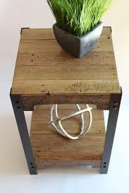 Pallet Furniture Side Table Modern Pallet Wood And Steel Side Table Pallet Wood Side