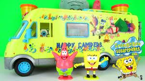 spongebob squarepants camper van holiday with patrick star playset