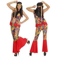 foto hippie figli dei fiori abito carnevale donna vestito hippie anni 60 effettoparty
