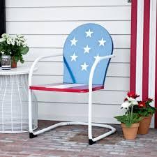 Kirklands Patio Furniture American Flag Metal Chair Kirklands