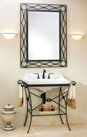 Wrought Iron Bathroom Furniture Vanity Consoles For Bathrooms Modern Vintage Deco