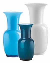 Modern Glass Vase Venini Opalino Vases Traditional Transitional Mid Century