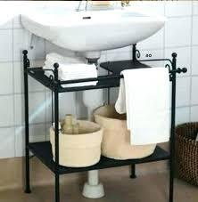 bathroom sink storage ideas pedestal sink storage dynamicpeople club