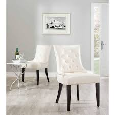 Modern Leather Dining Chairs Tables  Chairs Upholstered Dining - White leather dining room set