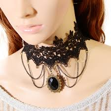 vintage lace necklace images Retro gothic handmade vintage style lace bead collar chokers jpg