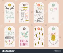 hand drawn christmas holiday gift tags stock vector 486647584