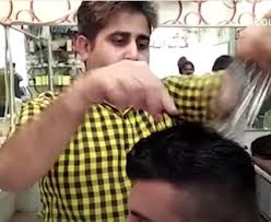 pakistan hair style video watch video pakistan barber uses 15 scissors at once to give a