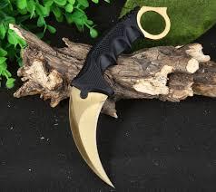 jeslon cool hunting karambit knife cs go never fade counter strike