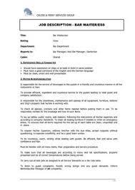 waitress job cover letter waitress job description waitress job description pinterest