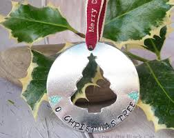 Personalised Metal Christmas Tree Decorations by Oh Baubles Etsy