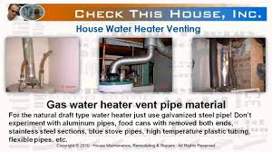 water heater venting how to vent a gas water heater youtube