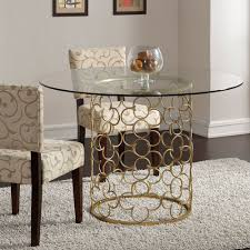 Gold Dining Room Quatrefoil Coffee Table
