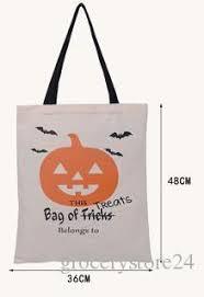 6 types halloween tote bags with black handle pumpkin christmas
