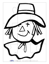 printable b u0026w scarecrow face large puzzle