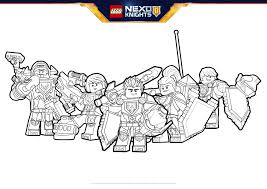 nexo knights heroes formation 01 colouring page activities