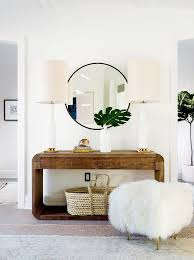 bedroom console table rounded console table with large table ls and mongolian fur