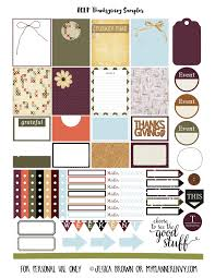 erin condren life planner free printable stickers thanksgiving sler for the erin condren life planner planner