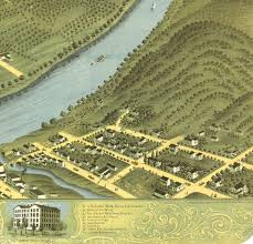 Aerial Map Of Chicago by Wheeling West Virginia In 1870 Bird U0027s Eye View Map Aerial
