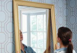 bathroom mirror frame kits touching backsplash framing materials