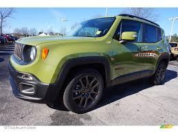 green jeep 2016 jungle green jeep renegade 75th anniversary 110816702