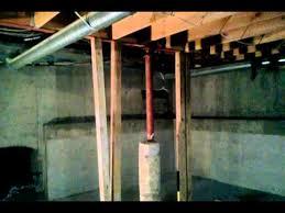 basement excavation denver steel support post youtube