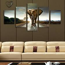 living room canvas art designs extra large wall art elephant painting canvas living