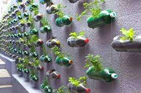 Garden Crafts For Adults - plastic bottle and cd into planter plastic bottle crafts adults