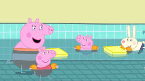 peppa pig cartoon peppa pig swimming