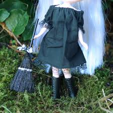 black halloween broom miniature broomstick for dolls u0026 crafts