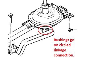 05 mustang gt transmission steeda mustang replacement shifter linkage bushings 05 10 555