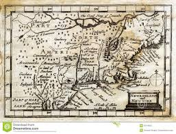 New England Map by 1635 Antique John Speed Map Colonial New England Stock Photos
