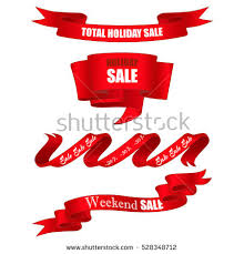 ribbon sale set realistic ribbon sale banners stock vector 528348712