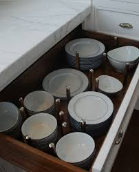 Kitchen Drawers Instead Of Cabinets Best 25 Dish Storage Ideas On Pinterest Kitchen Drawer Dividers