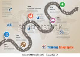 design template road map business timeline imagem vetorial de