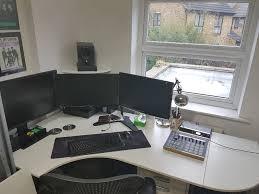 big ikea galant bekant corner desk with 2 x extensions lockable drawer unit