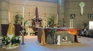 Easter Decorations For Church Altar by Father Julian U0027s Blog Easter Decorations At St Francis