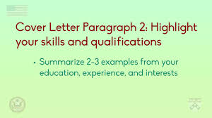 cover letter paragraph 2 highlighting your skills in the cover