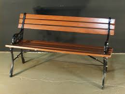 bench small wrought iron bench outdoor public wooden park bench