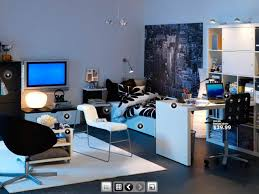 Boy Room Design Teen Room Designs For The Boys Black And White Sofa Rug Dorm