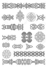 celtic ornaments and patterns set for embellish and ornate royalty