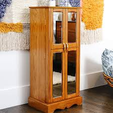 how is an cabinet hives honey chelsea mirrored armoire jewelry cabinet walnut