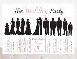 Chalkboard Wedding Program Template 8 Best Images Of Party Silhouette Wedding Program Wedding Party