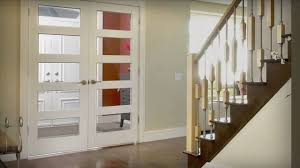 Home Depot Glass Doors Interior Installation Of A Double Door Unit Youtube
