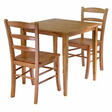amazon com winsome groveland 3 piece wood dining set light oak