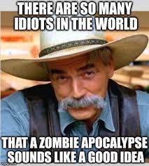 Zombie Birthday Meme - sam elliot happy birthday blank template imgflip