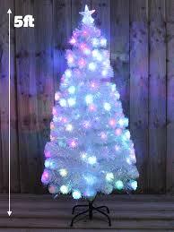 drop down christmas lights white rainbow pre lit christmas tree fibre optic xmas led decoration