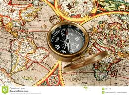 Map Compass Antique World Map Compass Stock Images Image 5846654