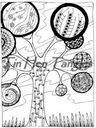 abstract trees coloring page 11 color me nature pinterest
