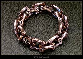 steel link bracelet images Axe link bracelet steel flame jpg