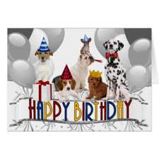 happy birthday from the dog greeting cards zazzle